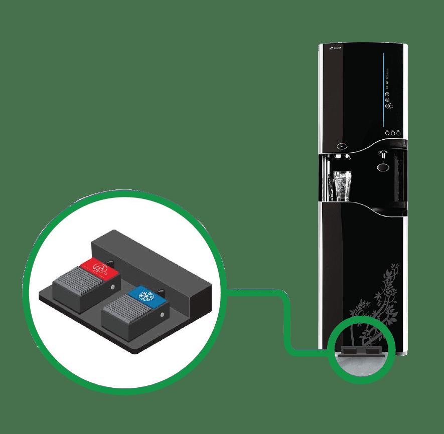 Dual Pedal Dispense on WS12000 Bottleless Water Cooler