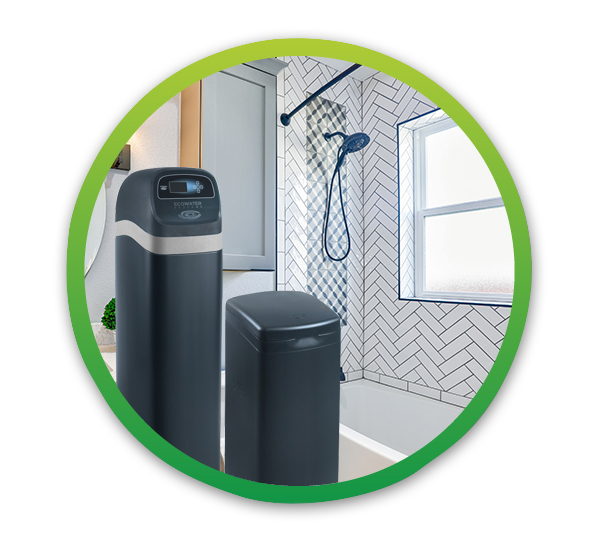 water softener use helps with softer skin when washing hands